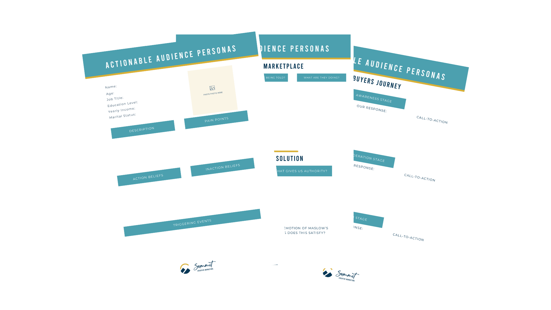 audience persona worksheets
