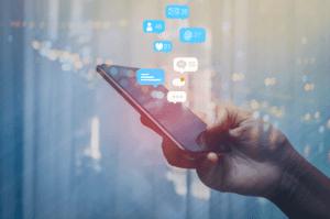 social media notificiations on phone